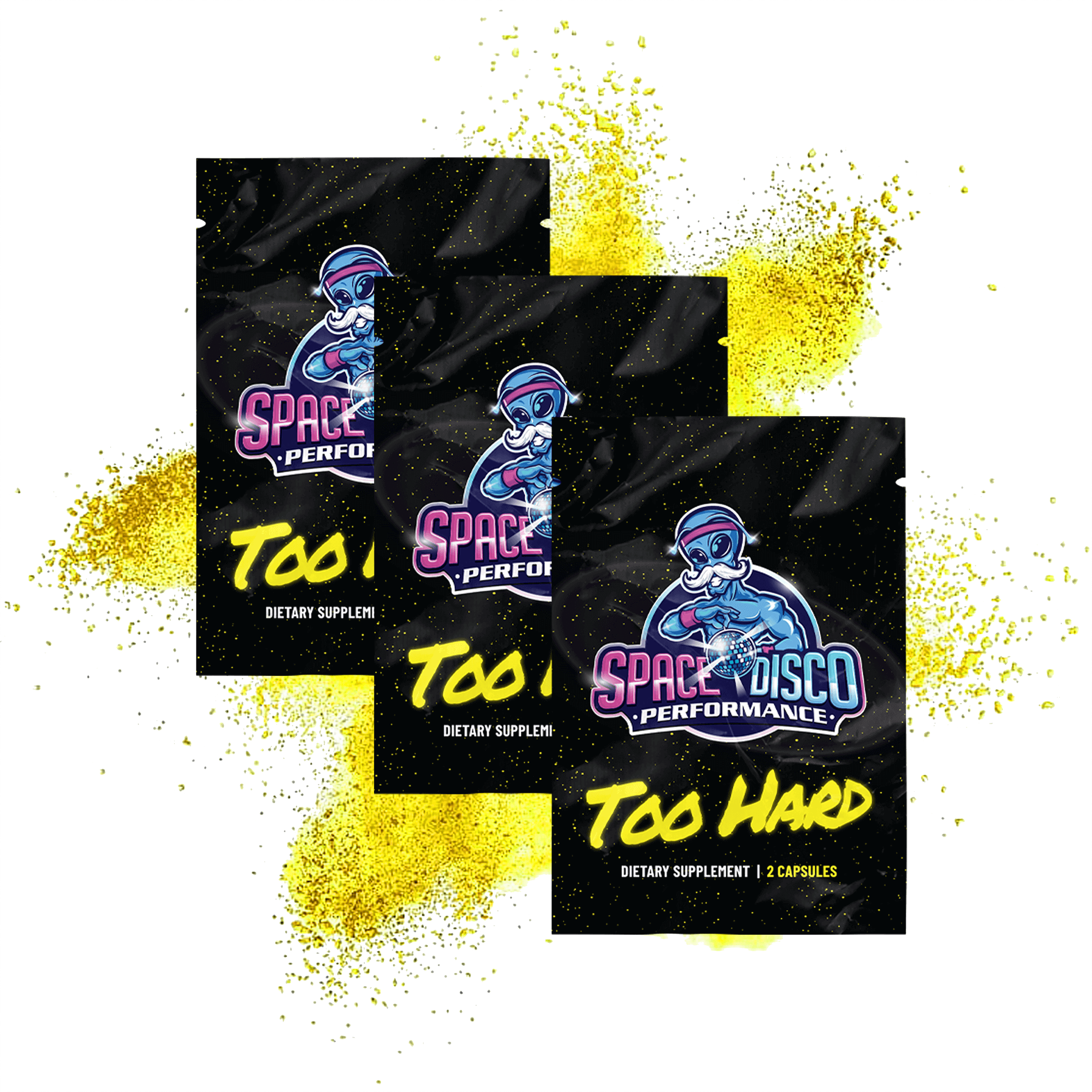 Space Disco Performance TOO HARD Male Enhancing Erection Formula                                     3-pack